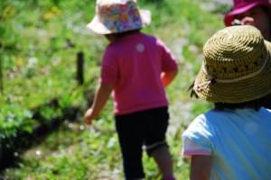 野原で遊ぶ子供