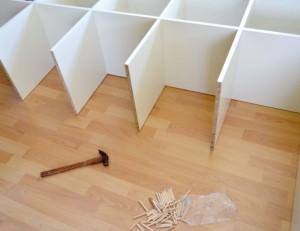 棚を作る途中段階