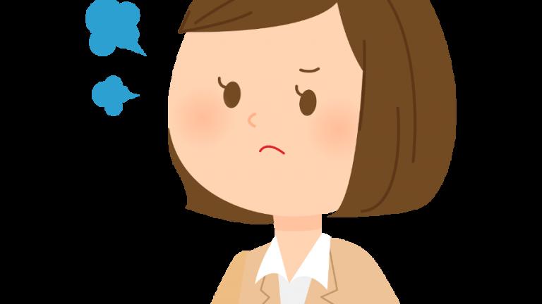 怒る女性のイラスト